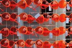 橙色的玻璃 库存照片