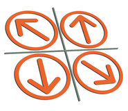 橙色的箭头 免版税库存照片
