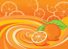 橙色的要素 向量例证