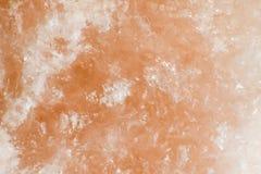 橙色石盐纹理 库存照片