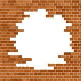 橙色砖墙框架 免版税库存照片