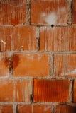 橙色砖墙纹理背景 免版税库存图片