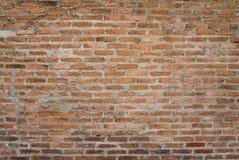 橙色砖墙 免版税库存照片