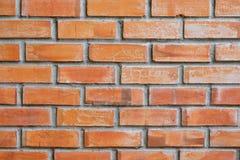 橙色砖墙 免版税库存图片