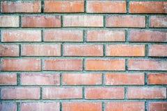 橙色砖背景 免版税库存照片
