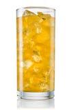 橙色碳酸化合的柠檬水fanta玻璃  Brot 免版税库存图片