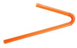 橙色秸杆 库存照片