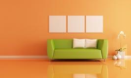 橙色空间 皇族释放例证