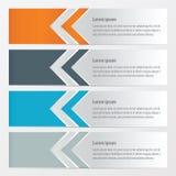 橙色箭头的横幅,蓝色,灰色颜色 库存例证