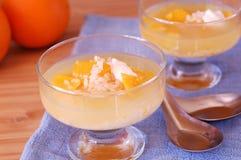 橙色米汤甜点 免版税库存照片
