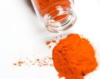 橙色粉末 库存图片