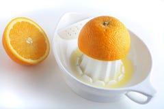 橙色紧压 免版税库存照片