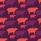 橙色紫色和桃红色五颜六色的小绵羊 皇族释放例证
