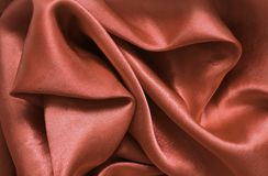 橙色纹理缎 丝绸 图库摄影