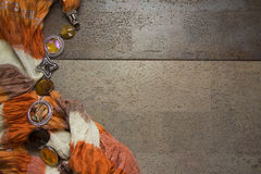 橙色纺织品 免版税库存照片