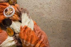 橙色纺织品 库存图片