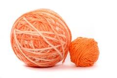 橙色线程数 库存照片