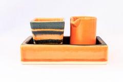 橙色给上釉的商品 库存照片
