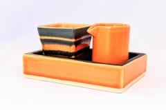 橙色给上釉的商品 库存图片