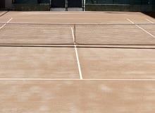 橙色网球场 图库摄影