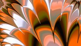 橙色羽毛摘要发出光线背景 库存例证