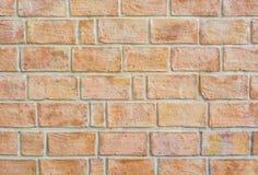 橙色老墙壁纹理 免版税库存照片