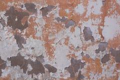 橙色老墙壁纹理 免版税库存图片