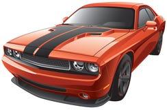 橙色肌肉汽车 免版税库存图片