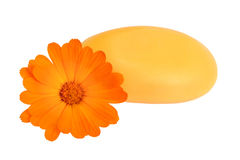 橙色肥皂 免版税库存图片