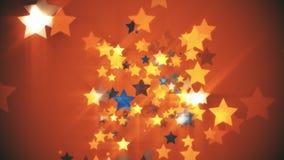 橙色背景星  库存图片