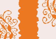 橙色背景 库存图片