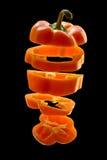 橙色胡椒切了 免版税图库摄影