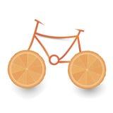 橙色自行车 免版税图库摄影