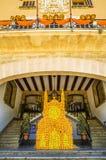 橙色节日在索勒,马略卡 免版税库存图片