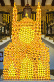 橙色节日在索勒 库存照片