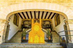 橙色节日在索勒 库存图片