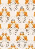 橙色花无缝的样式传染媒介花卉设计原始斯堪的纳维亚人 皇族释放例证