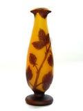 橙色花瓶 免版税库存图片