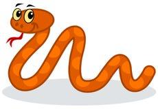 橙色蛇 库存照片