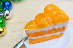 橙色蛋糕。 图库摄影