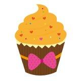 橙色蛋糕 向量例证
