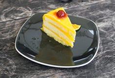 橙色蛋糕 图库摄影