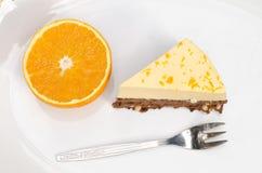 橙色蛋糕 免版税库存照片