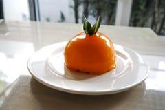 橙色蛋糕 库存照片