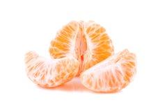 橙色蜜桔部分  库存照片