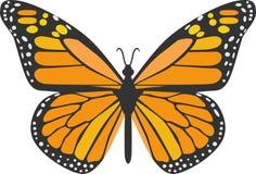 橙色蝴蝶 皇族释放例证