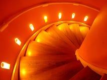 橙色螺旋形楼梯 库存照片