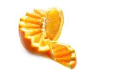 橙色螺旋形楼梯 库存图片