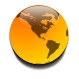橙色行星 皇族释放例证