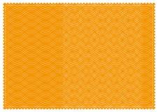橙色被仿造的票 免版税图库摄影
